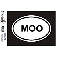 INDIGOS UG Sticker/Bumper/JDM/Die cut - MOO Sticker Cow Farm Animal Love Funny Car Vinyl - 180x120 mm