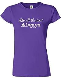Harry Potter Womens T-shirt Reliques de la Mort Crewneck Top Tee