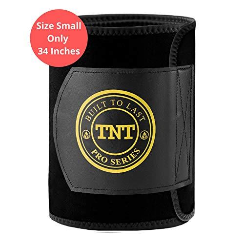 TNT Pro Series Bauchweggürtel, Hilfe Zum Abnehmen Am Bauch - Premium Bauchgürtel, Bauchtrainer, Hot Belt Als Fettverbrenner Für Bauch - Extra Breit Und 100% Latex-Frei - Größe S