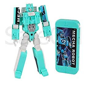 SaleOnTM 2in1 Robot to Phone Deformation Electronic Cell Phone Transformation Robot Phone Model Action Figures with Music Education Toys for Children (Assorted-Colors) - 1230