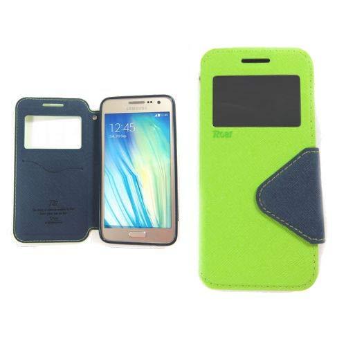 jbTec Flip Case Handy-Hülle zu Samsung Galaxy J7 2016 / SM-J710 - Fancy Diary Book ZWEIFARBIG - Handy-Tasche Schutz-Hülle Cover Handyhülle Ständer Bookstyle Booklet, Farbe:Grün