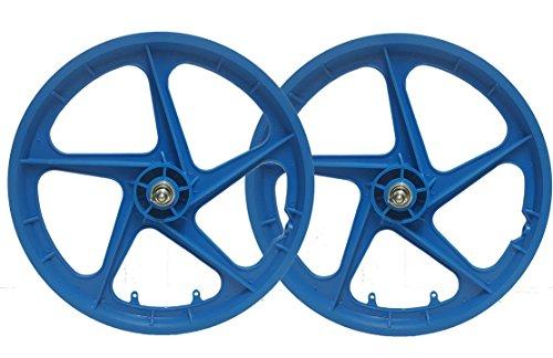 Trinity Paar 50,8cm BMX Mag Rollen, blau Aero 5Spoke Retro Freestyle vorne und hinten BMX Bike Laufradsatz
