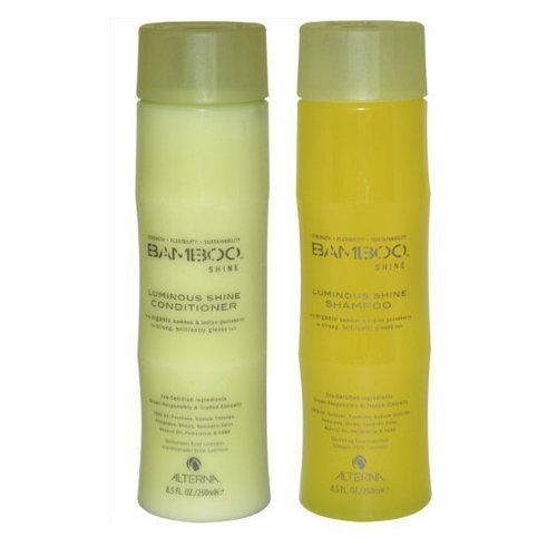 Bamboo Shine Luminous Shine Shampoo Unisex Shampoo and Conditioner by Alterna (8.5 Ounce each)