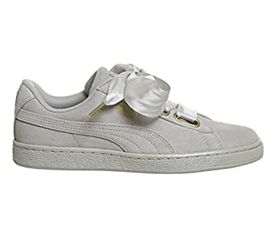 419a06e2bec8 Puma Women s Suede Heart Satin WN s Grey Violet Sneakers-6 UK India ...