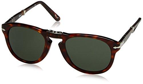 Persol Unisex-Erwachsene 0Po0714 24/31 52 Sonnenbrille, Braun (Havana/Grey Green),
