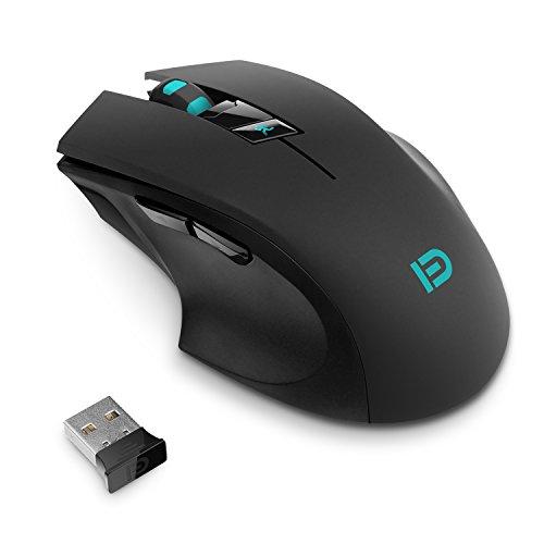 Kabellos Maus, FUDE 2.4GHz Maus Schnurlos 2400 DPI Wireless Gaming Maus Mouse für PC/ Computer/ Laptop