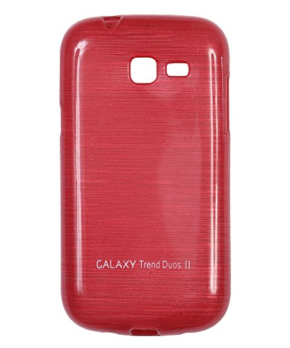 iCandy Soft TPU Shiny Back Cover For Samsung Galaxy Trend GT S7392 - Red  available at amazon for Rs.109