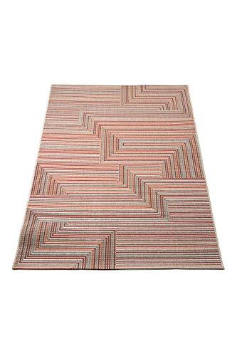 Aspecto Matriz rayas y Chevron de tejido plano interior/alfombra al aire libre, Multicolor