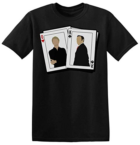 Frank and Claire King and Queen Playing Cards Underwood Camiseta para Hombre XX-Large