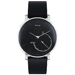 Withings Activité Steel - Smartwatch mit Aktivitäts- und Schlaftracker - Mineraglas & Edelstahl - Black