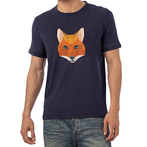 TEXLAB - Poly Mr. Fox - Herren T-Shirt Navy