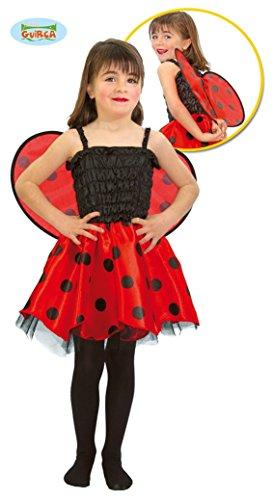 Baby Marienkäfer - Kostüm für Mädchen Gr. 86 - 98, (Kostüm Baby Marienkäfer Ideen)