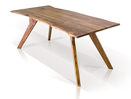 moebel-eins GERA II Esstisch Massivholztisch Tisch Holztisch Akazietisch Baumkantentisch Baumtisch Akazie lackiert, 180 x 90 cm