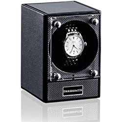 Superb New Piccolo Modular Watch Winder in Carbon Fibre Design Starter Set With Mains Adaptor by Designhuette Germany