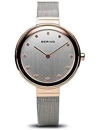 BERING Reloj Analógico para Mujer de Cuarzo con Correa en Acero Inoxidable 12034-064