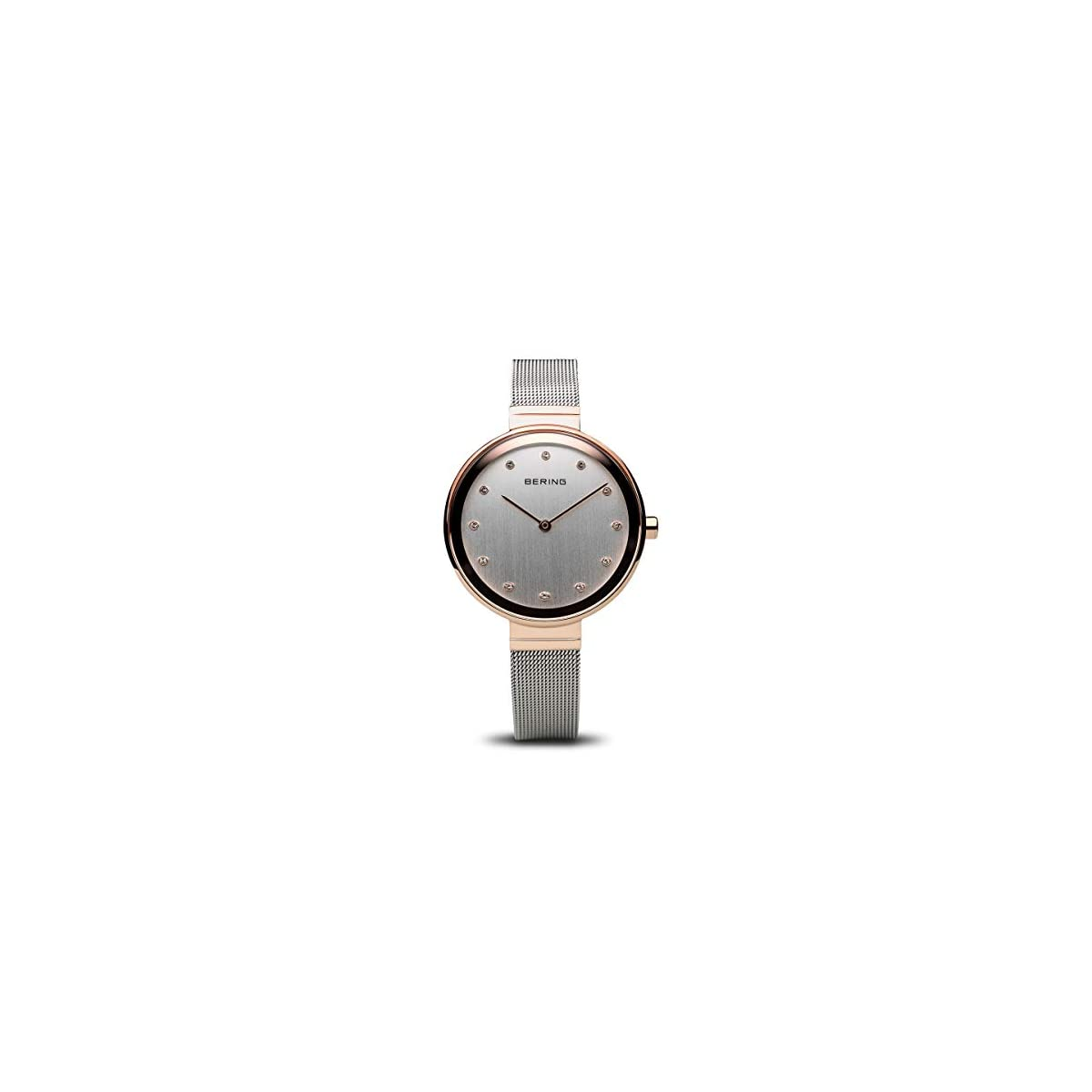 41O4RKoo37L. SS1200  - BERING Reloj Analógico para Mujer de Cuarzo con Correa en Acero Inoxidable 12034-064