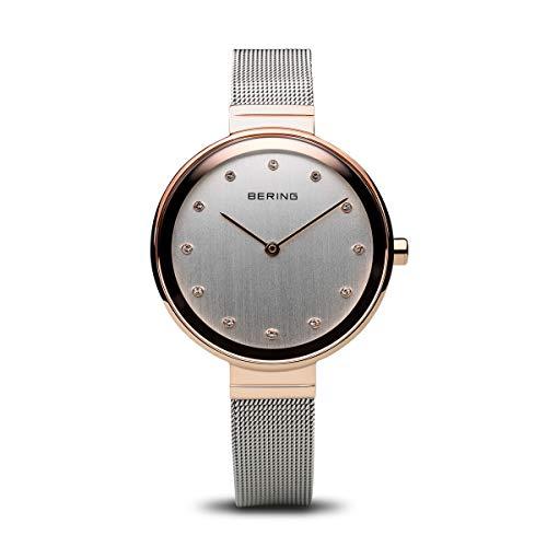 BERING Damen-Armbanduhr Analog Quarz Edelstahl 12034-064