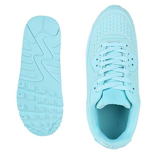 Damen Herren Unisex Sportschuhe Profil Sohle Laufschuhe Fitness Runners VanHill Türkis