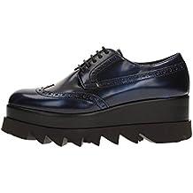 B6942 scarpa inglese donna CULT ALICE LOW scarpe vernice blu shoe woman 1406f68ca5e