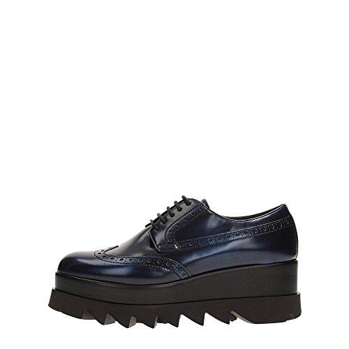 B6942 Anglais Chaussures Femme Cult Alice Low Chaussures Bleu En Cuir Verni Femme Bleu