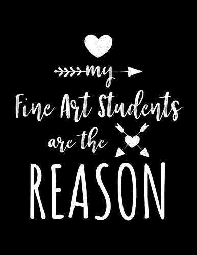 My Fine Art Students Are The Reason: Fine Art Teacher Appreciation Doodle Sketch Book por Dartan Creations