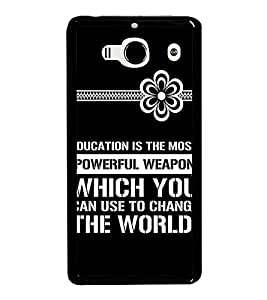HiFi High Glossy Designer Phone Back Case Cover Xiaomi Redmi 2 :: Xiaomi Redmi 2S :: Xiaomi Redmi 2 Prime ( Educations Is Important to Change World Quotes )