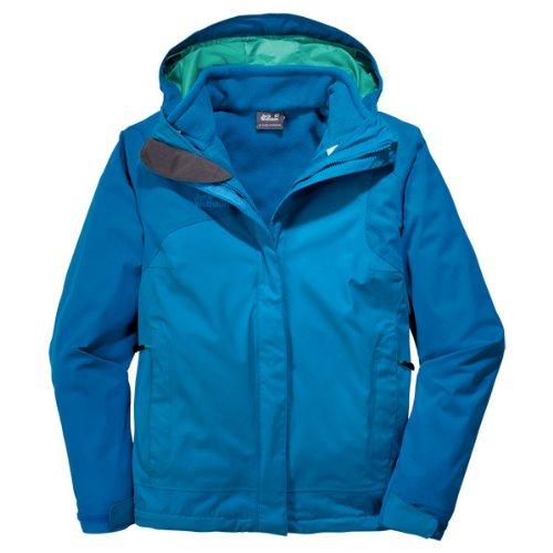 Jack Wolfskin Damen 3 In1-Jacke Cool Wave, Brilliant Blue, XL, 1104401-1152005