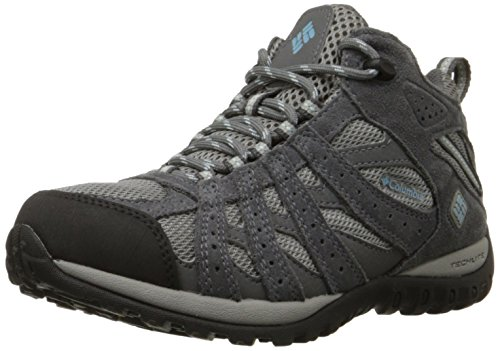 Columbia Redmond Mid Waterproof Scarpe da Trekking, Donna, Grigio(Light Grey/Sky Blue 060), 38.5 EU