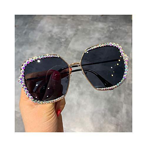 FGRYGF-eyewear2 Sport-Sonnenbrillen, Vintage Sonnenbrillen, NEW Sunglasses Women Luxury Rhinestone Square Sun Glasses Clear Lens Oversized Men Sunglasses Vintage Shades black