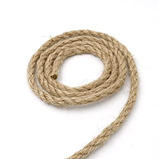 Hemp Rope 6mm,20M 4-Ply Natural Thick Jute String, Strong Jute Twine for Gardening and Floristry, Garden Bundling (64 Feet)