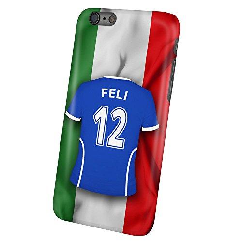 Preisvergleich Produktbild PhotoFancy – iPhone 6 Plus / 6s Plus Handyhülle Premium – Personalisierte Hülle mit Namen Feli – Case mit Design Fußball-Trikot Italien EM 2016