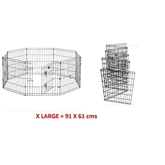 "8 Panel Wire Metal Pet Dog Small Animal Cat Exercise Playpen Fence Enclosure Cage Den X Large 36"" Inches 8 Panel Wire Metal Pet Dog Small Animal Cat Exercise Playpen Fence Enclosure Cage Den X Large 36″ Inches 41O4WWXq9gL"
