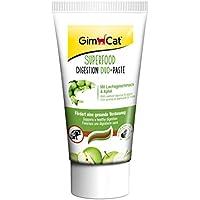 GimCat Superfood Digestion Duo-Paste mit Lachsgeschmack und Apfel – Hochwertige Futterpaste zur Verdauungsförderung bei Katzen – 5er Packung (5 x 50g)