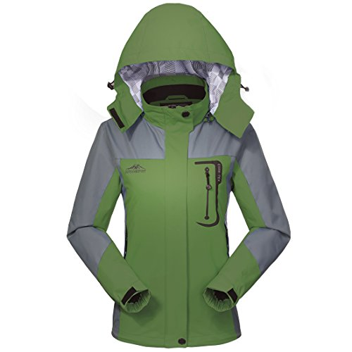 Wasserdichte Regenjacke Damen Softshell Sport Outdoorjacke - GIVBRO 2018 Neues Design Funktions Atmungsaktive Hooded Camping Hiking Jacke