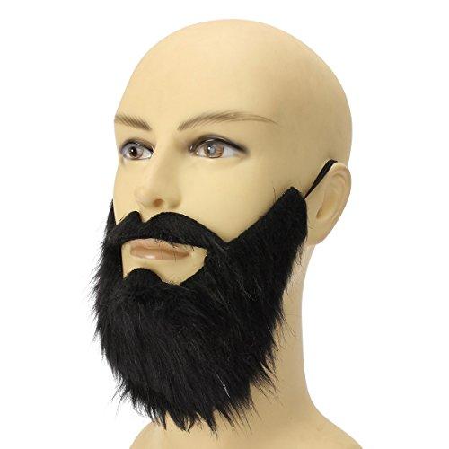 Yalulu Schwarz Bushy Falschen Bart , Karneval Fasching Halloween falscher Bart Schurrbart Mustache (Falschen Bart Und Perücke)