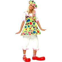 bf6e520f5c36 P  tit Clown – 86045 – Costume adulto clown donna con Ring – Taglia unica