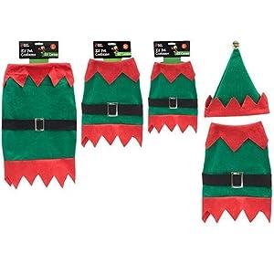 Elf-Pet-Costume-Christmas-Pet-Suit-Elf-Costume-For-Pets-Size-Large-50cm