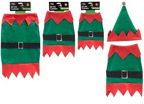 Kostüm Premier - Elf Hundekostüm - Weihnachten Pet Anzug - Elf Kostüm für Haustiere - Größe Medium 40cm