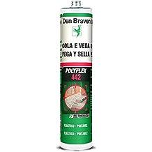 Den Braven POLYFLEX442CZ - Masilla poliuretano pega y sella (300 ml) color gris