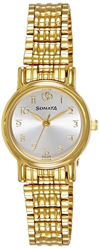 Sonata Analog White Dial Women's Watch -NK8976YM07W image