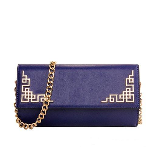 Femmina Stile Cinese Borsa Moda Elegante Borsa A Tracolla Blue