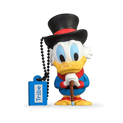 Tribe Disney Onkel Dagobert USB Stick 8GB Speicherstick 2.0 High Speed Pendrive Memory Stick Flash Drive, Lustige Geschenke 3D Figur, USB Gadget aus Hart-PVC mit Schlüsselanhänger – Mehrfarbig