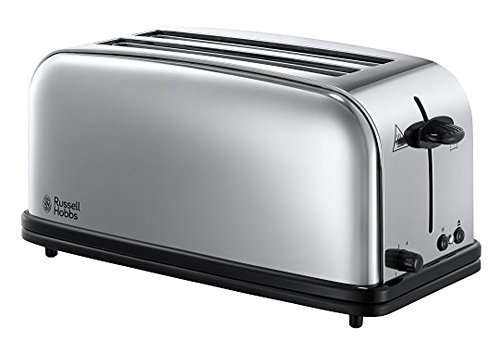 Russell Hobbs 23520-56 Toaster Grille Pain 1600W Victory, 2 Longues Fentes, Chauffe Viennoiserie, Design Rétro