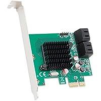 SYBA SD-PEX40099 Interno PCIe Tarjeta y Adaptador de Interfaz - Accesorio (SATA, PCIe, Marvell 88SE9215, 5 Gbit/s, 65 mm, 77 mm)