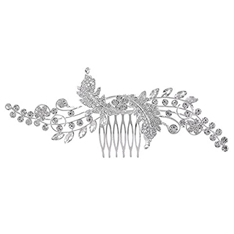 DUUMY Mme 2017 Nouveaux Accessoires de Bijoux Peigne en Alliage Mariée Coiffe de la Couronne de Bijoux , white