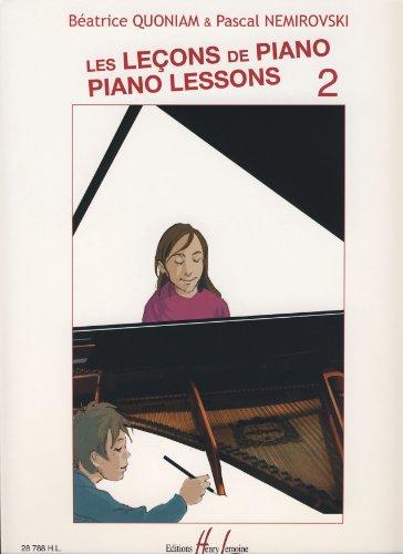 Les Leçons de piano, vol. 2 / Béatrice Quoniam et Pascal Némirovski | Quoniam, Béatrice. Auteur