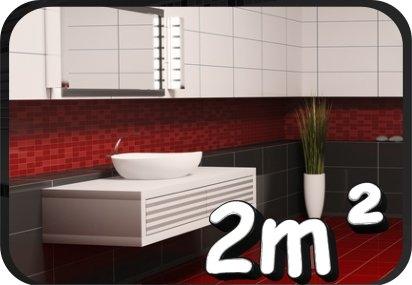 50 Stück Fliesenaufkleber, Kachel Aufkleber Badezimmer Fliesen Aufkleber Küche, WC Dekor 2m² 20x25cm
