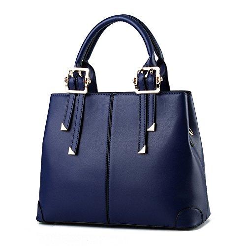 Mefly Donna Tendenze Moda Pu Borsette Grandi Capacità Giallo Limone Royal Blue