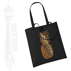 Jutebeutel Stoffbeutel ' Ananas '