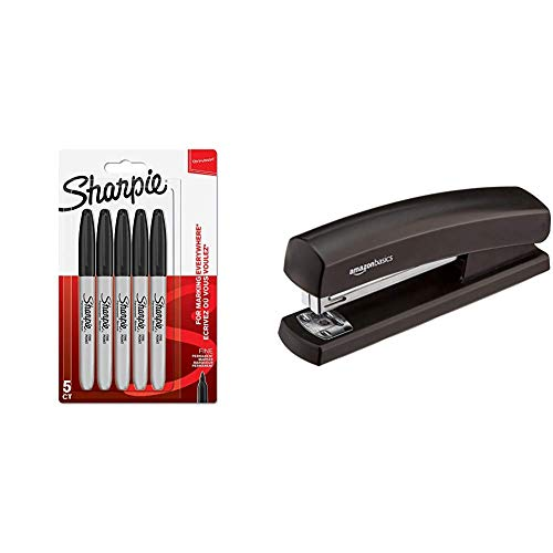 Sharpie marqueurs permanents, pointe fine Lot de 5 noir &...
